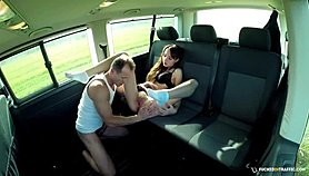 FuckedInTraffic - Hot Czech babe fucks hard and eats cum in the car