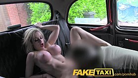 FakeTaxi Young blonde with big tits in taxi creampie Porn Movies