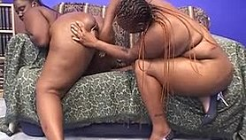 Two curvy chocolate girls engage in lesbian sex and reach their climax Free Porn